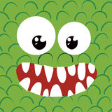 Monster close up-happy Royalty Free Stock Image