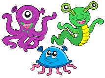 Monster collection 1. On white background - vector illustration royalty free illustration