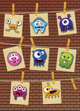 Monster collection Stock Image