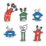 Monster color. Icons, six variants Stock Illustration