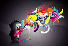 Monster color abstract illustration. Cute monster color abstract illustration Royalty Free Stock Photography