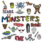Monster color doodles Royalty Free Stock Image