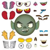Monster color  head Royalty Free Stock Photo
