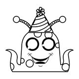 monster comic character with party hat Royalty Free Stock Photos
