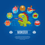 Monster Concept Icons Stock Photos