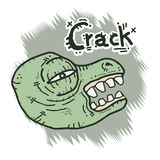 Monster crack Stock Photos