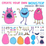 Monster creation kit. Royalty Free Stock Images