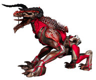 Monster creature in an armour. 3D render of a monster creature in an armour royalty free illustration