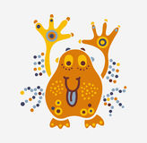 Monster creature essence bacteria virus cheerful little fat man Stock Photos
