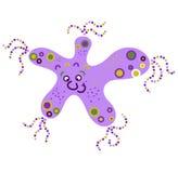 Monster creature essence bacteria virus UFO alien starfish five. Feet Stock Photography