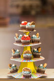 Monster cupcakes Royalty Free Stock Photography