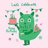 Monster cute celebration Stock Photo