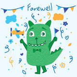 Monster cute farewell Stock Photo
