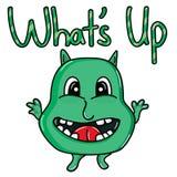 Monster cute hello logo Stock Photos