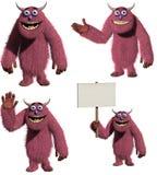 Monster. 3d cartoon cute red monster royalty free illustration