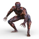 Monster. 3D CG rendering of a monster royalty free stock photo