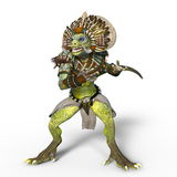 Monster. 3D CG rendering of a monster Royalty Free Stock Photography