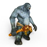 Monster. 3D CG rendering of a monster stock photos