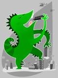 Monster dat gebouwen eet Royalty-vrije Stock Afbeeldingen