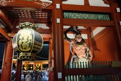 Monster in de tempel van Japan stock foto