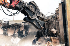 Monster Demolition Royalty Free Stock Photography