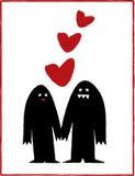 Monster in der Liebe Lizenzfreies Stockfoto