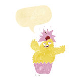 Monster des Karikaturkleinen kuchens mit Spracheblase Lizenzfreies Stockfoto