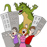 Monster Destroys City Royalty Free Stock Photo
