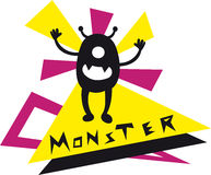 Monster Doodle. Illustration of an abstract monster doodle Royalty Free Illustration