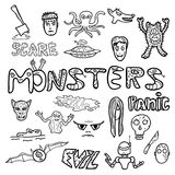 Monster doodles Royalty Free Stock Image