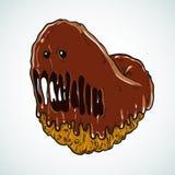 Monster doughnut  on gray background Stock Photo