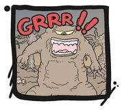Monster draw Royalty Free Stock Image