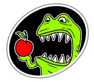 Monster eat apple Stock Photos
