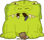 Monster Eating Businessman Royalty Free Stock Images