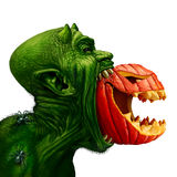 Monster Eating Jack O Lantern Stock Images