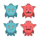Monster emotions set Stock Images