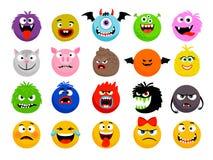 Monster en dier emoticons vector illustratie