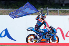 Monster Energy Grand Prix of Catalunya MotoGP. Winner moto3 Alex Marquez. Estrella Galicia Tea Stock Photo