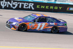 Monster Energy NASCAR Cup driver Denny Hamlin. Practicing in his number 11 car on the one and one-half mile asphalt oval track at Phoenix International Raceway Royalty Free Stock Photos