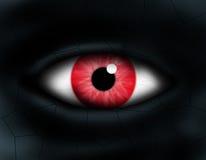 Monster eye. Close up monster eye red Stock Photos