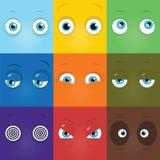 Monster eyes. Set of vector cartoon funny monster eyes royalty free illustration