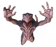 monster för illustration 3D Royaltyfri Bild