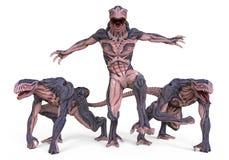 monster för illustration 3D Royaltyfri Foto