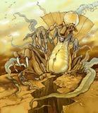Monster fördärvar på stock illustrationer