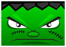 Monster face. Illustration of funny monster face created with cartoon syle Stock Images