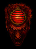 Monster face Stock Photo