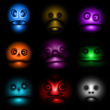 Halloween Avatar Monster Face Set Icon Royalty Free Stock Images