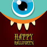 Monster face vector. halloween greeting card Stock Photography
