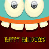 Monster face vector. halloween greeting card Royalty Free Stock Images