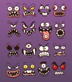 Monster faces Stock Photos